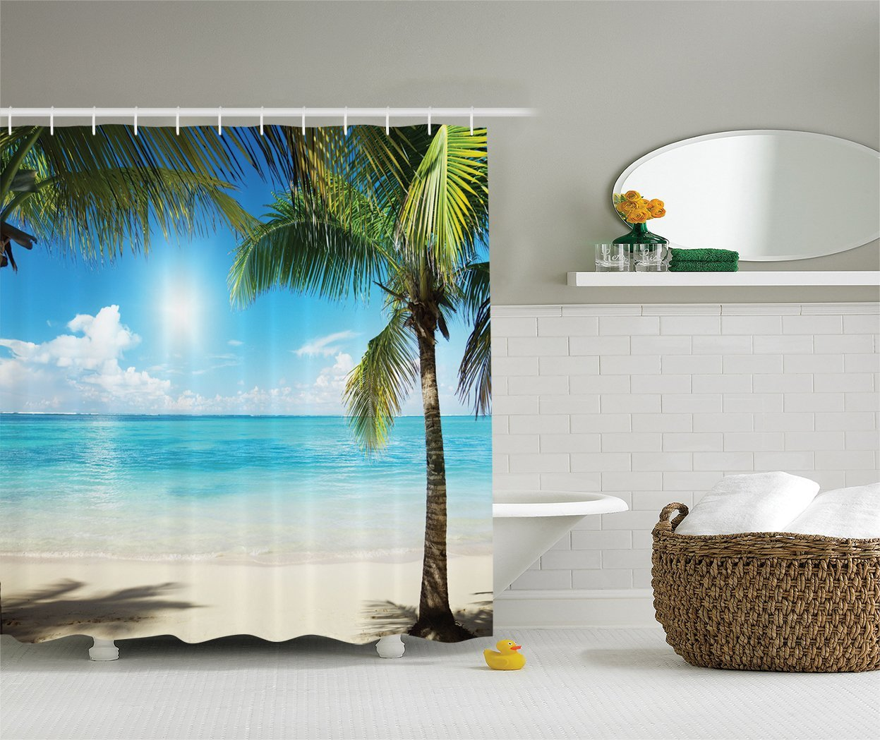 Tropical Shower Curtain For Z Home